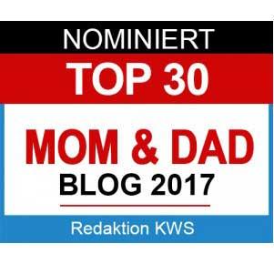 Nominiert für Award Top 30 MOM & DAD Blogs