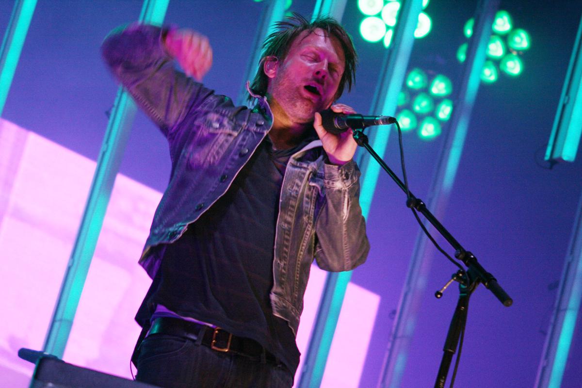 "Radiohead-Sänger Thom Yorke live beim ""Hurricane""-Festival. Foto: Julia Marre"