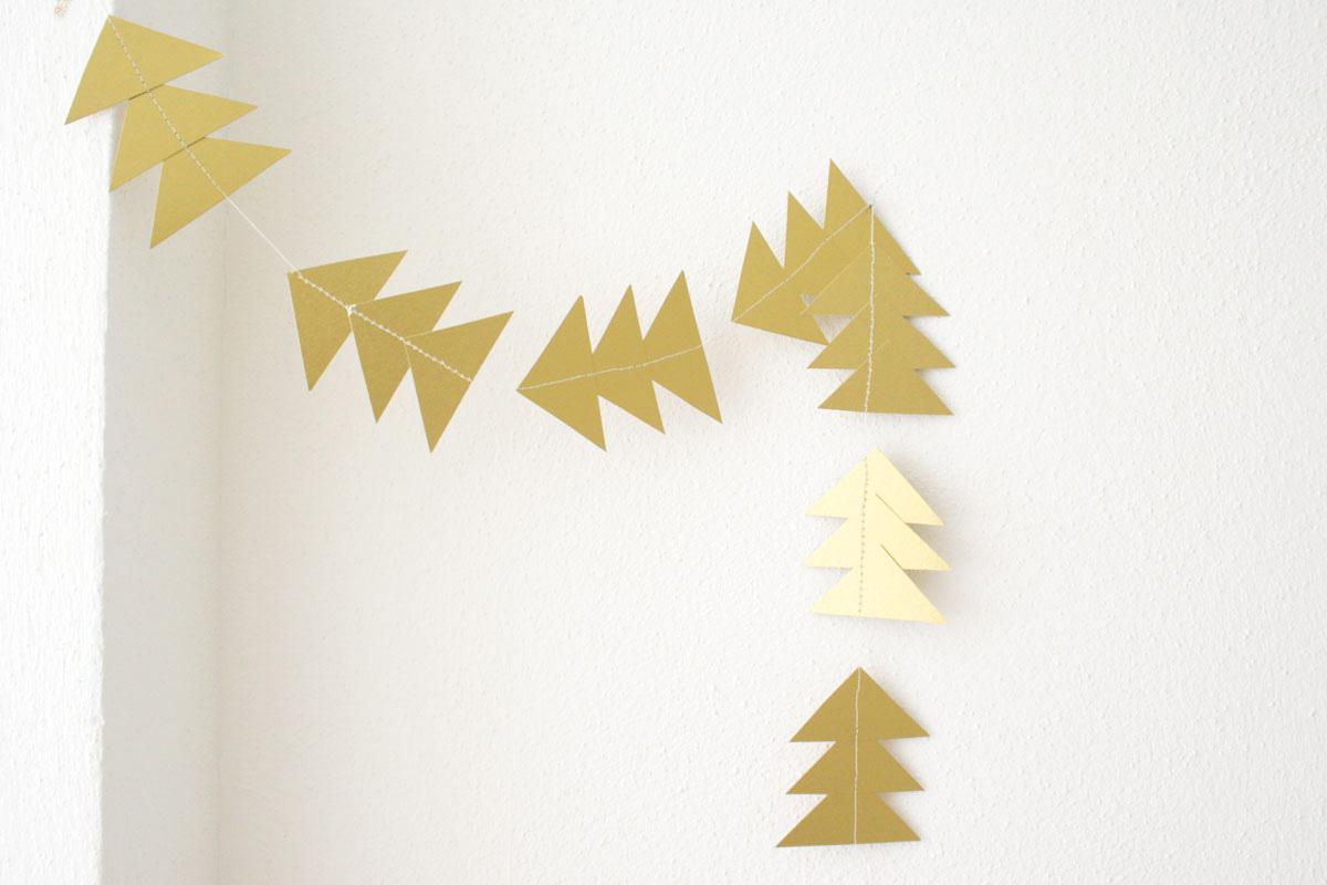 Girlande basteln für Weihnachten