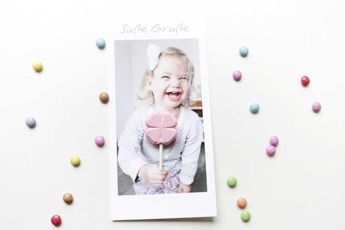 Süße Grüße: Lollipop-Karte für kleine und große Freunde