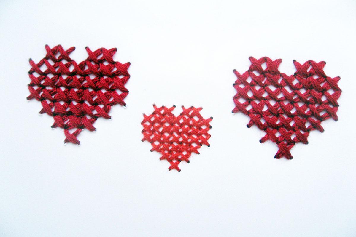 Glückwunschkarte, Einladungskarte: Die Kraft der drei Herzen